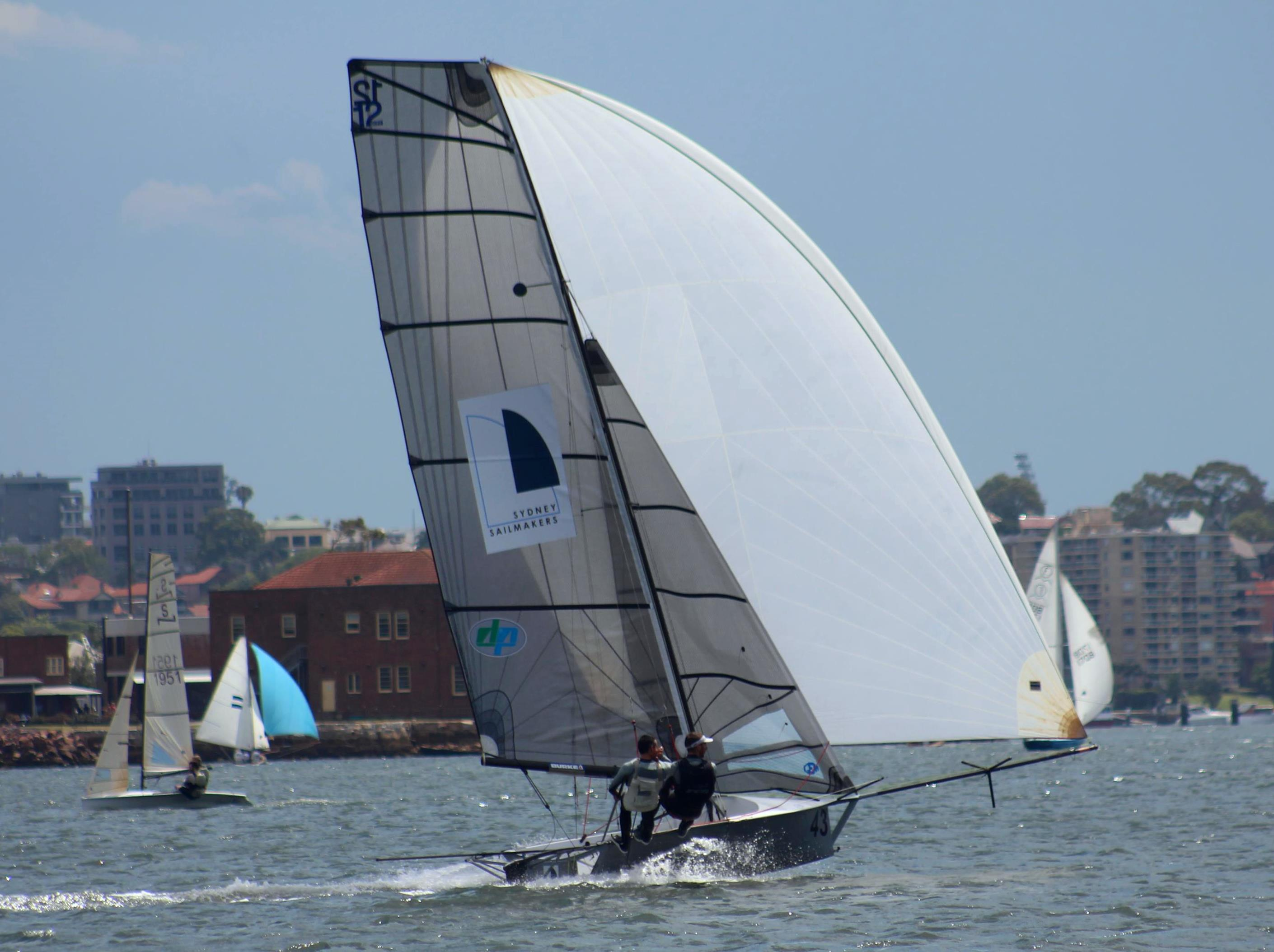 Press and Hay dominate to take out 12ft Skiff Upper Harbour Championship